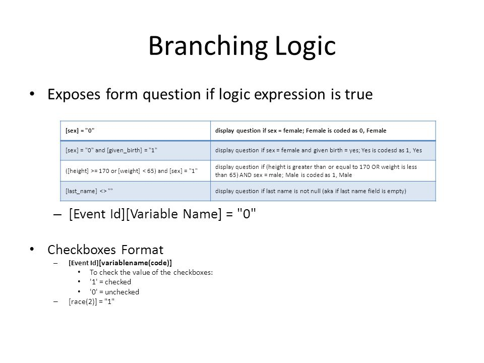 Branching Logic Exposes form question if logic expression is true