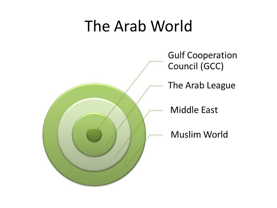 The Arab World Gulf Cooperation Council (GCC) The Arab League