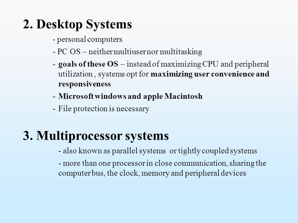 3. Multiprocessor systems