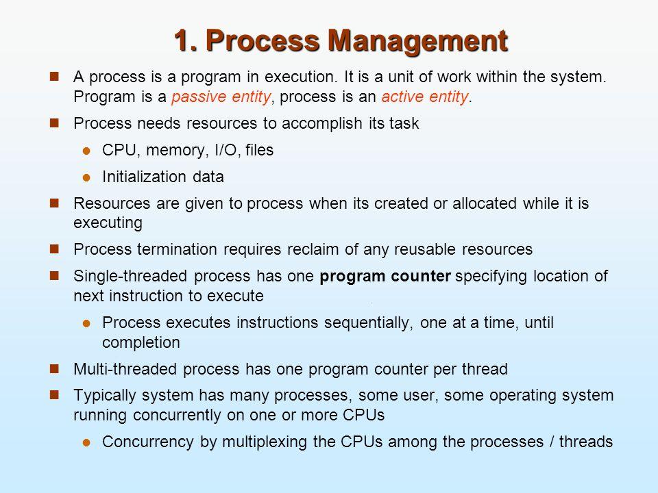 1. Process Management