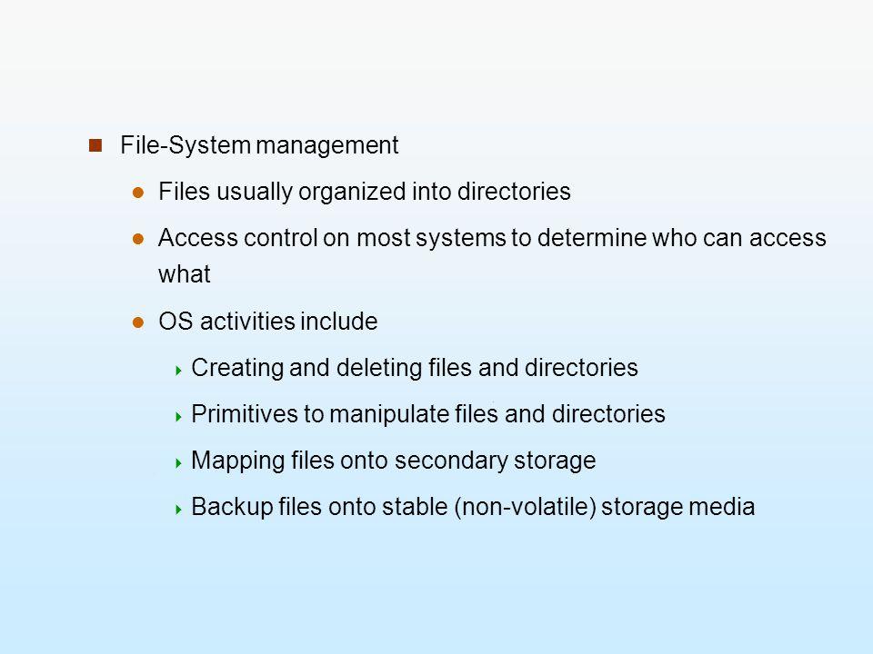 File-System management