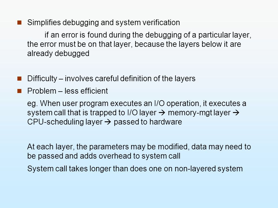 Simplifies debugging and system verification