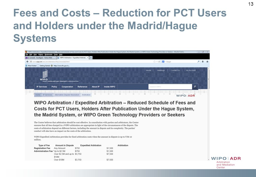 Fees and Costs – Reduction for PCT Users and Holders under the Madrid/Hague Systems