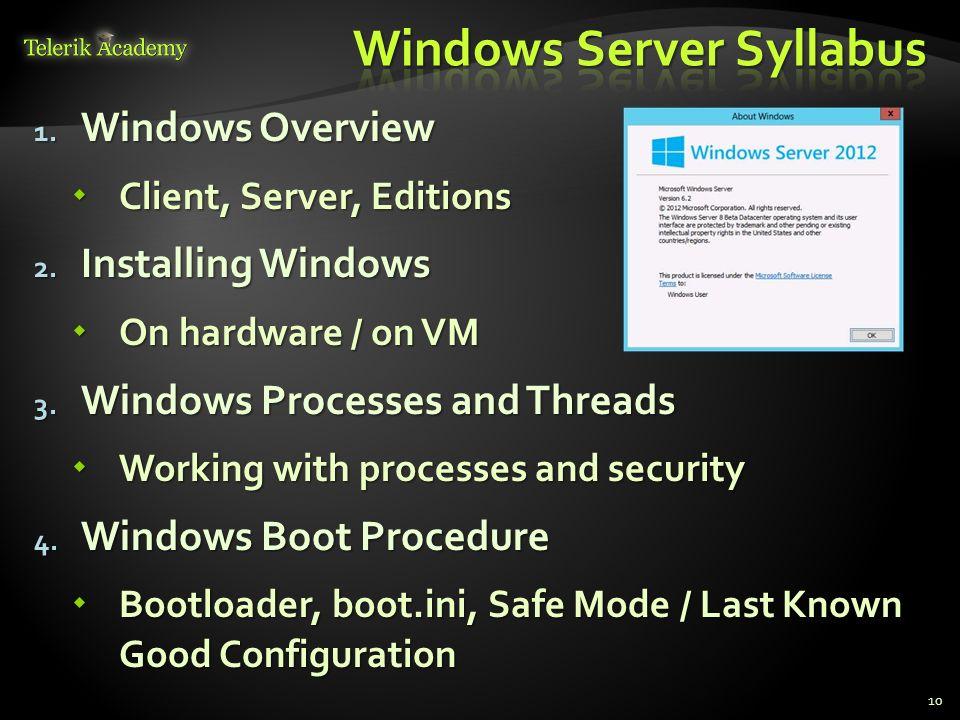 Windows Server Syllabus