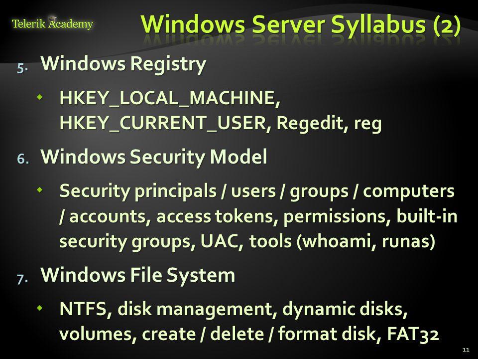 Windows Server Syllabus (2)