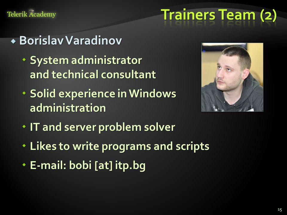 Trainers Team (2) Borislav Varadinov