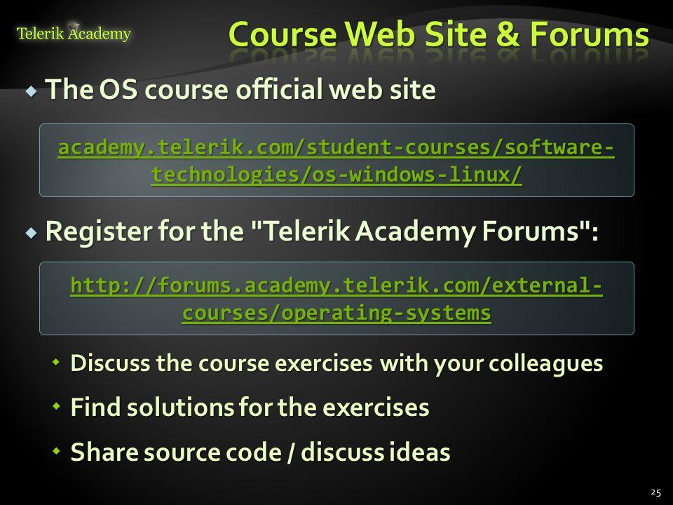 Course Web Site & Forums