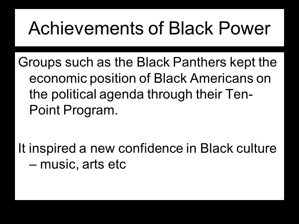 Achievements of Black Power