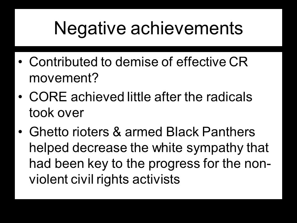 Negative achievements