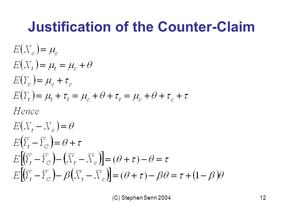 Justification of the Counter-Claim