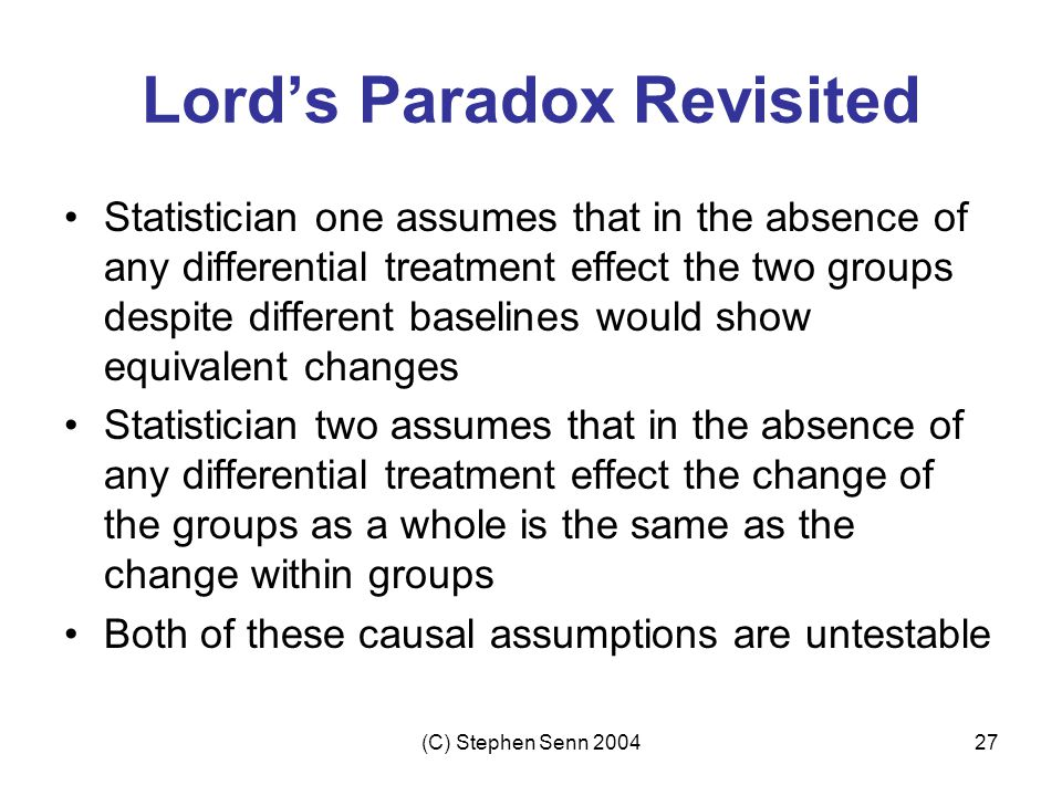 Lord's Paradox Revisited