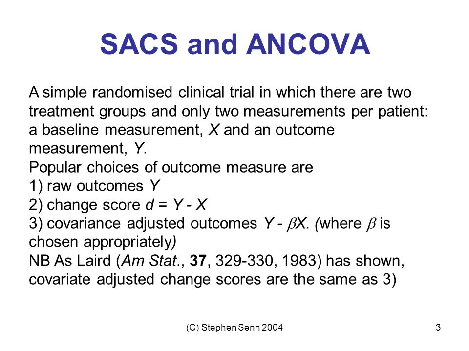 SACS and ANCOVA