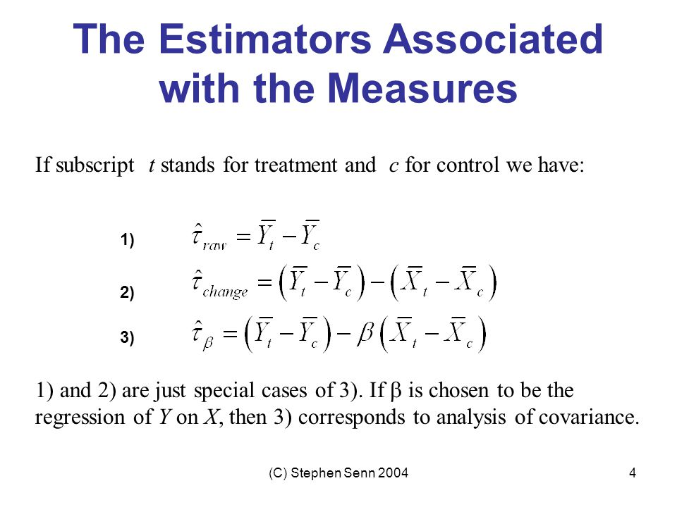 The Estimators Associated with the Measures