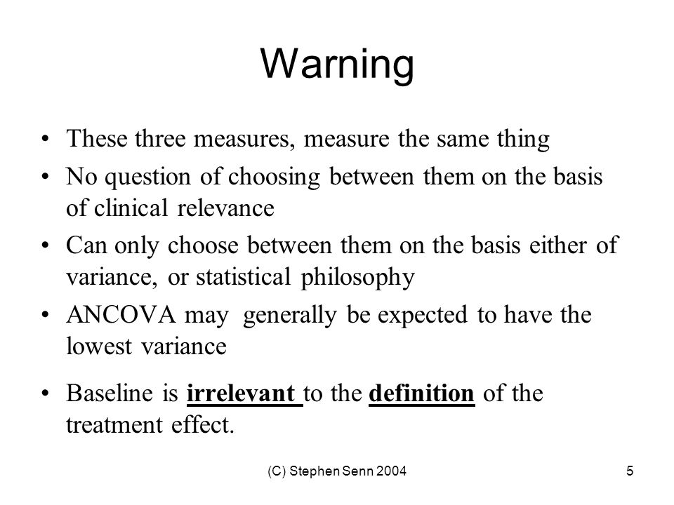 Warning These three measures, measure the same thing