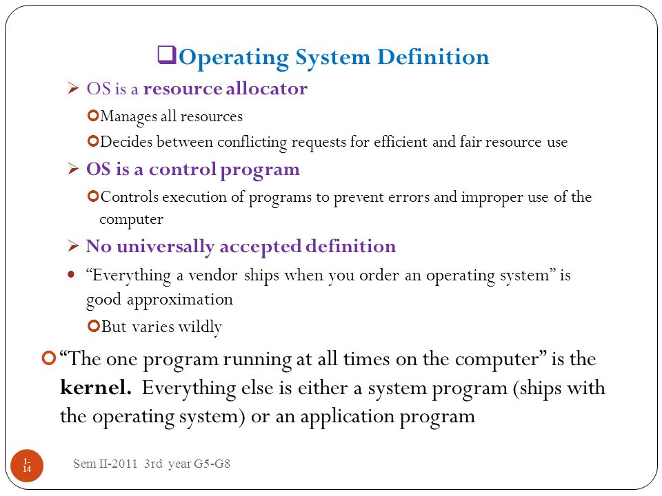 Operating System Definition