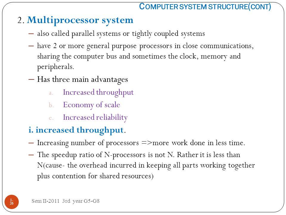 2. Multiprocessor system