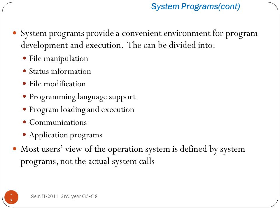System Programs(cont)