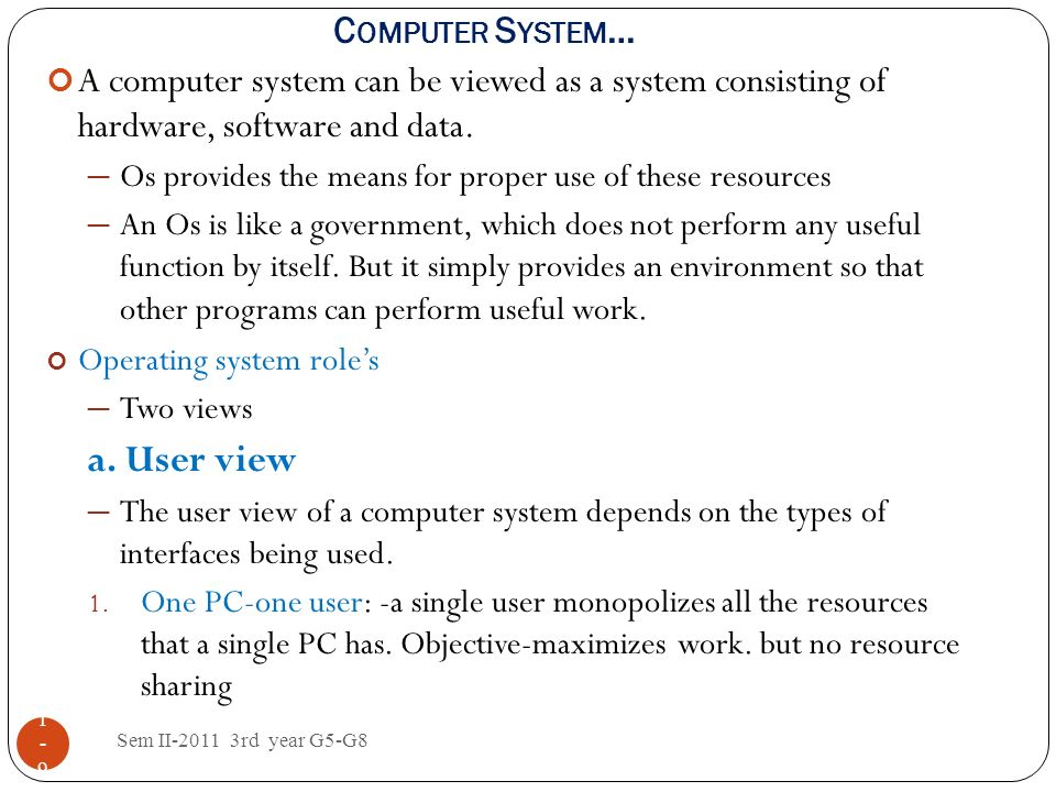 a. User view Computer System…