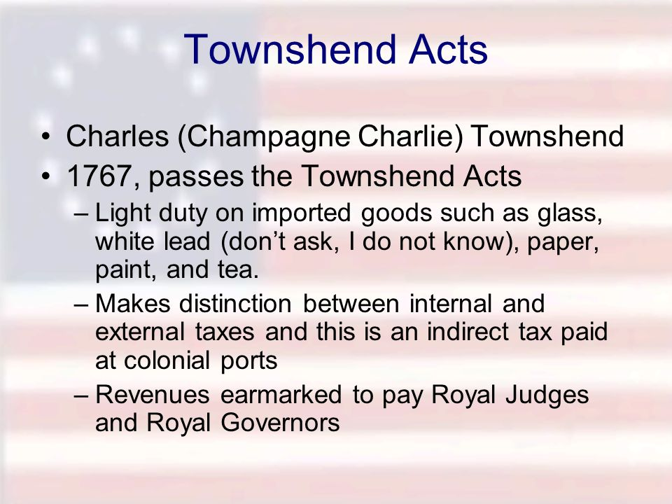 Townshend Acts Charles (Champagne Charlie) Townshend