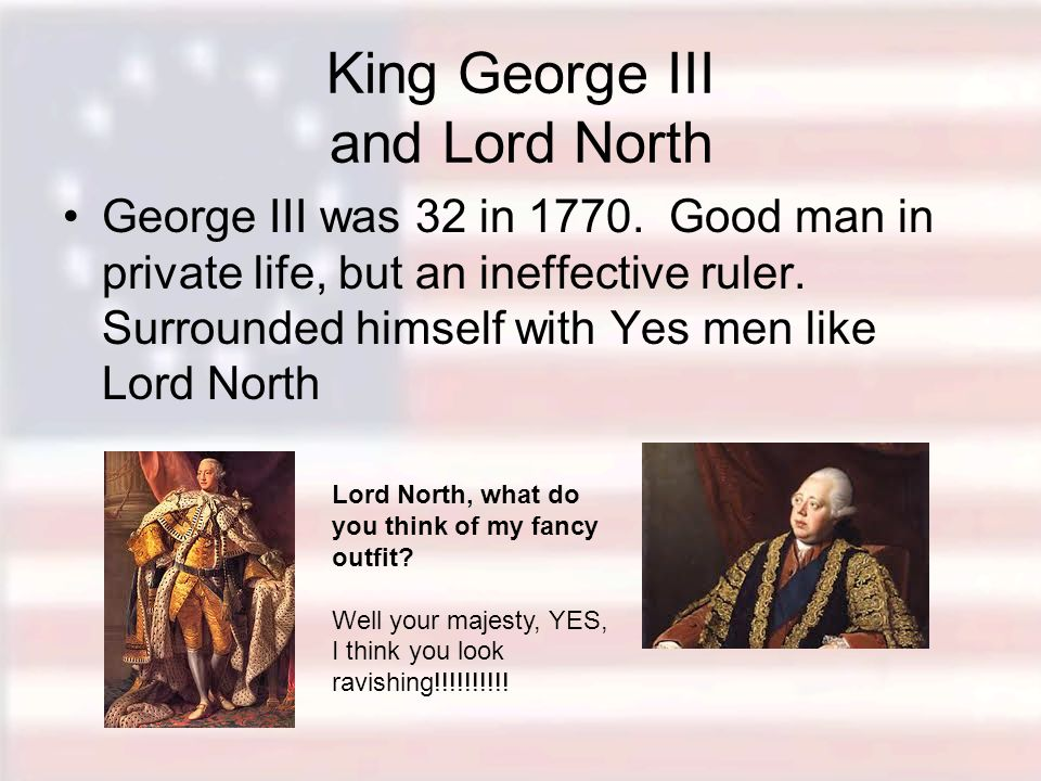 King George III and Lord North
