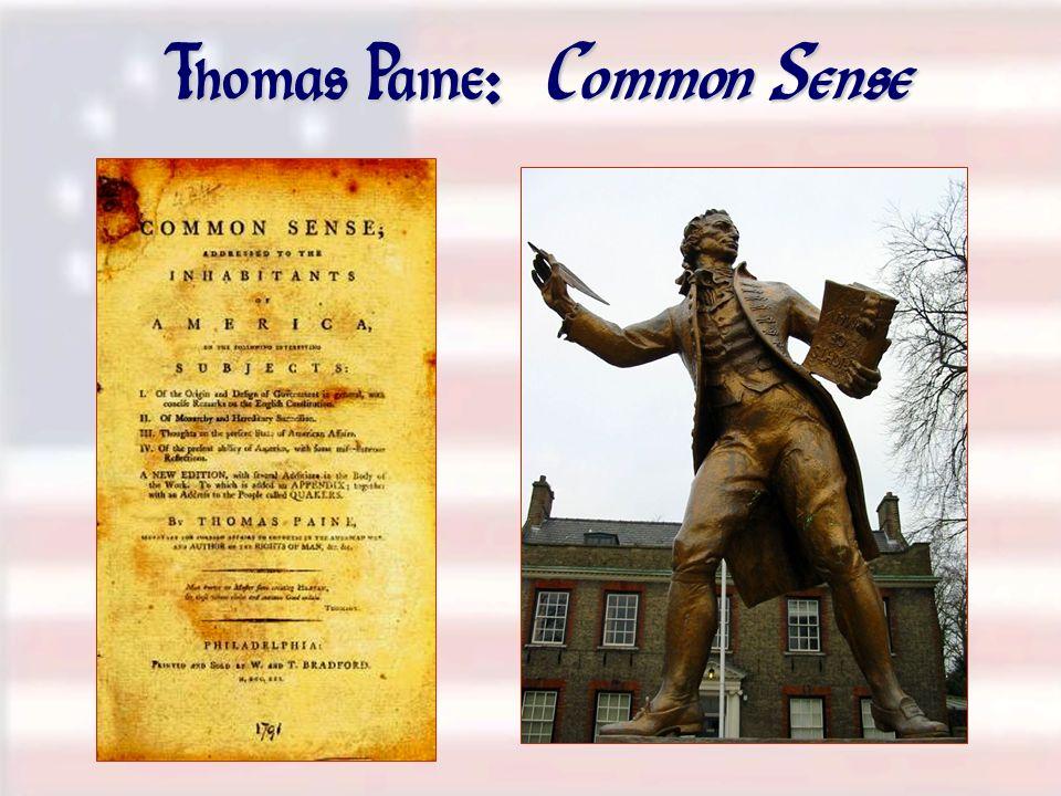 Thomas Paine: Common Sense