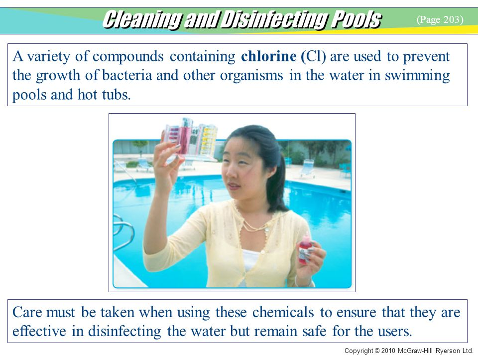 Cleaning and Disinfecting Pools