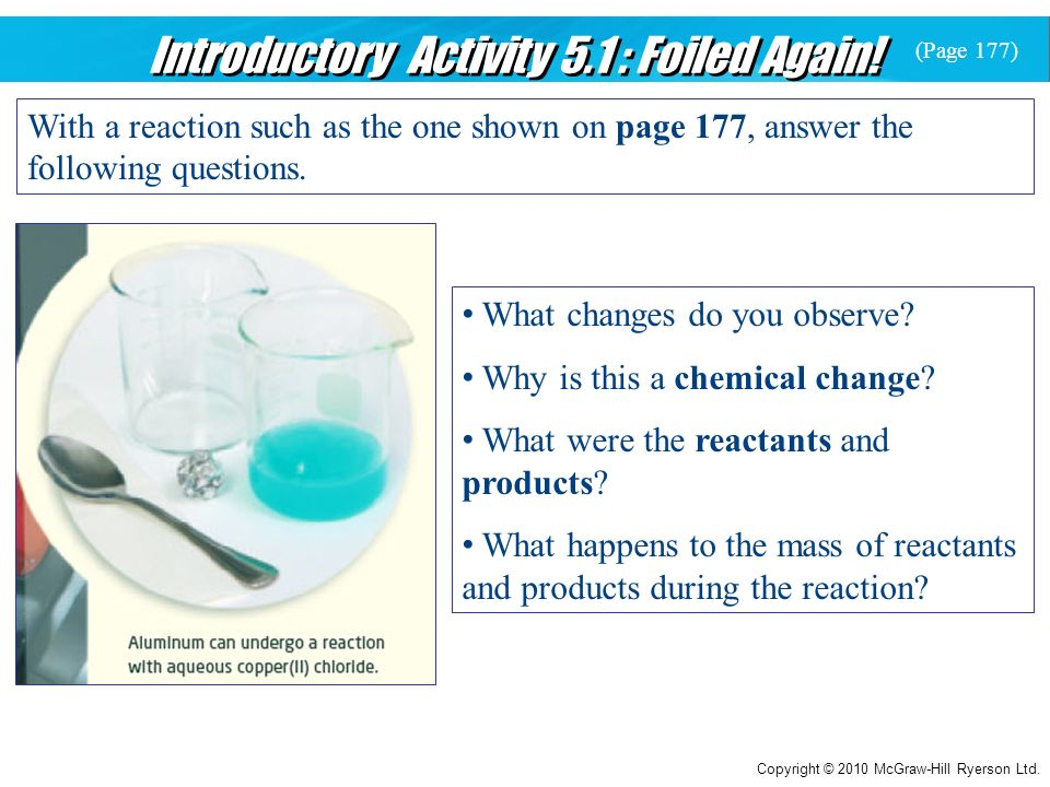 Introductory Activity 5.1 : Foiled Again!