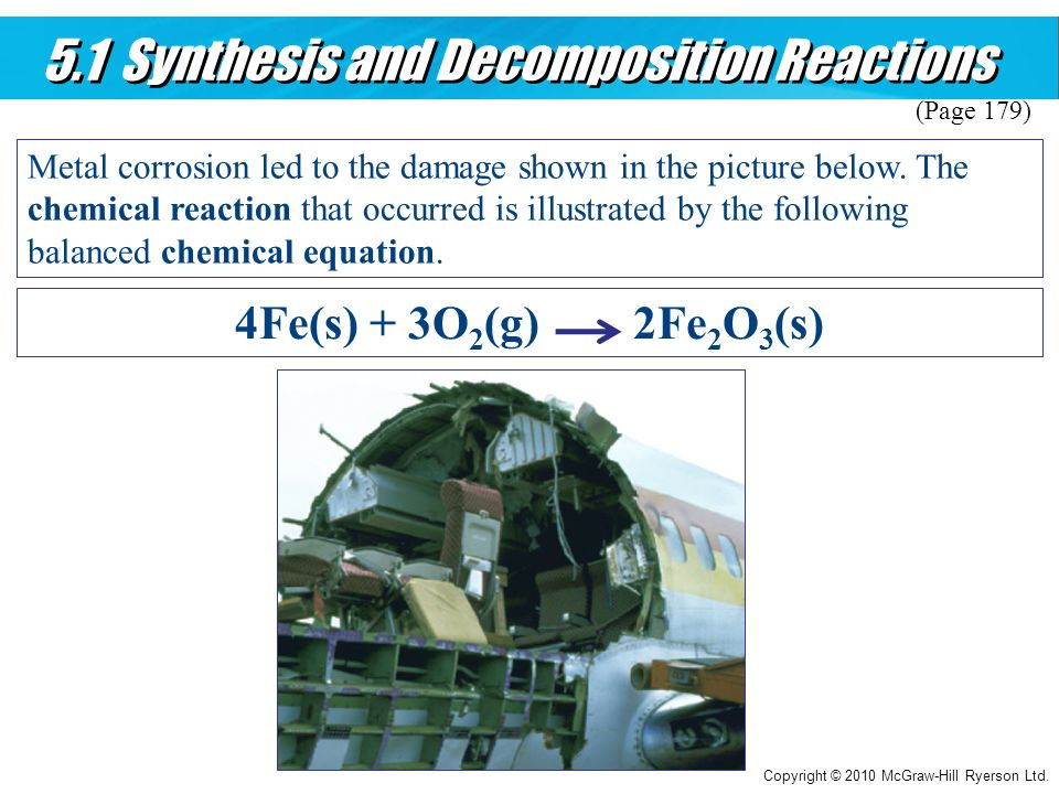 5.1 Synthesis and Decomposition Reactions