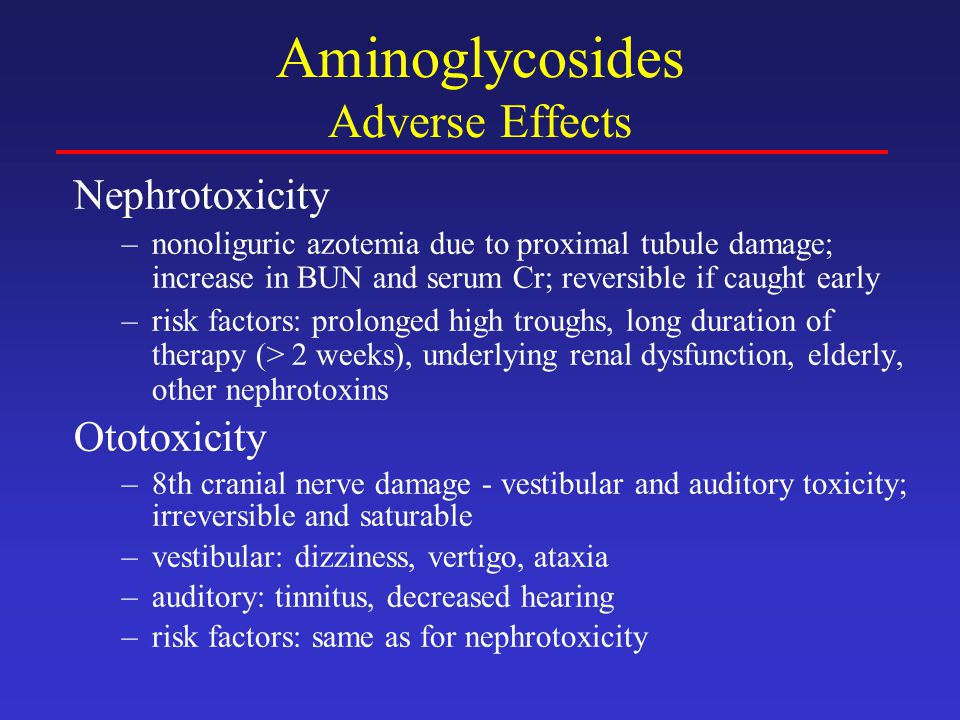 Aminoglycosides Adverse Effects