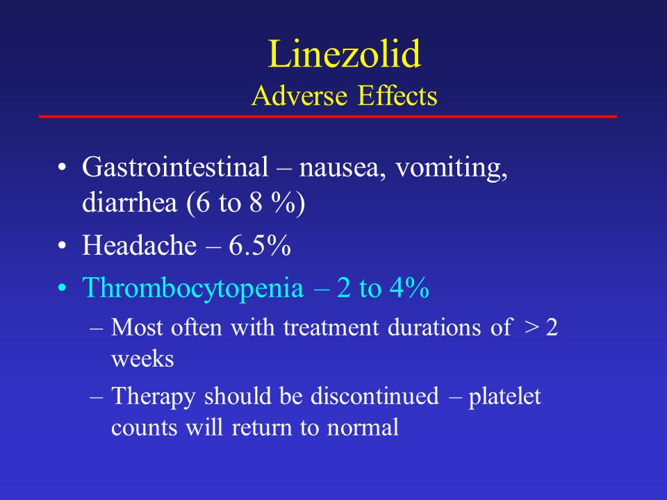 Linezolid Adverse Effects