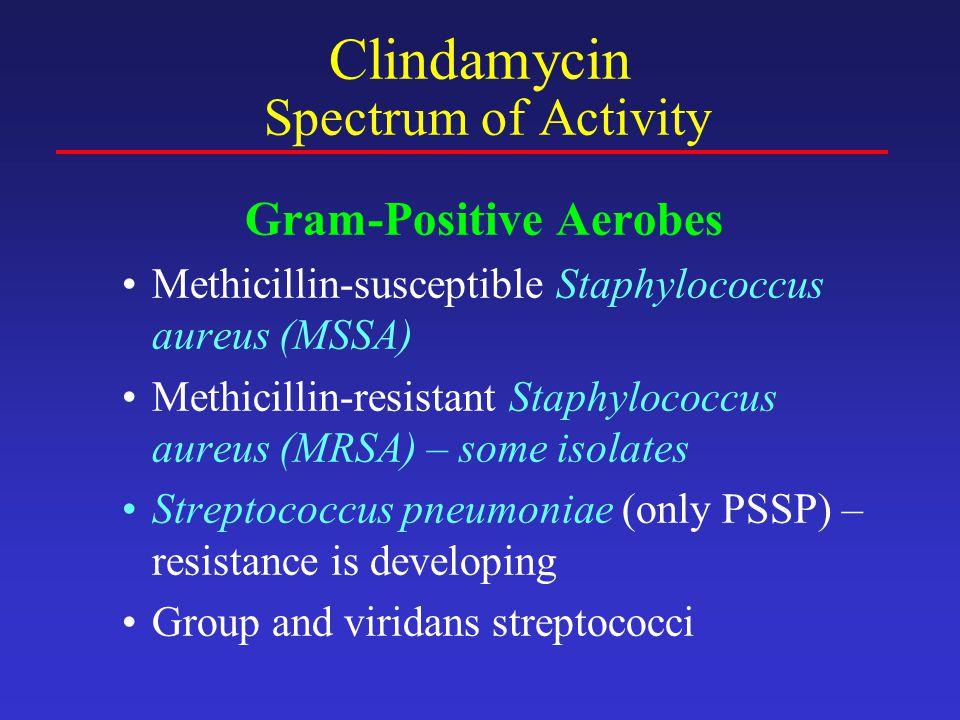 Clindamycin Spectrum of Activity