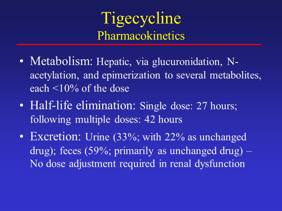 Tigecycline Pharmacokinetics