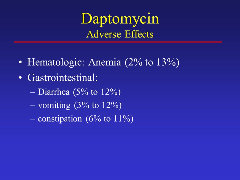 Daptomycin Adverse Effects