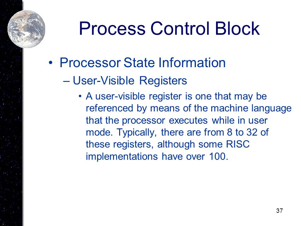 Process Control Block Processor State Information