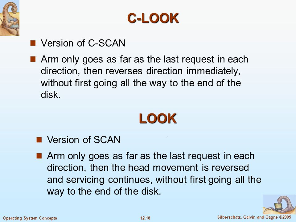 C-LOOK LOOK Version of C-SCAN