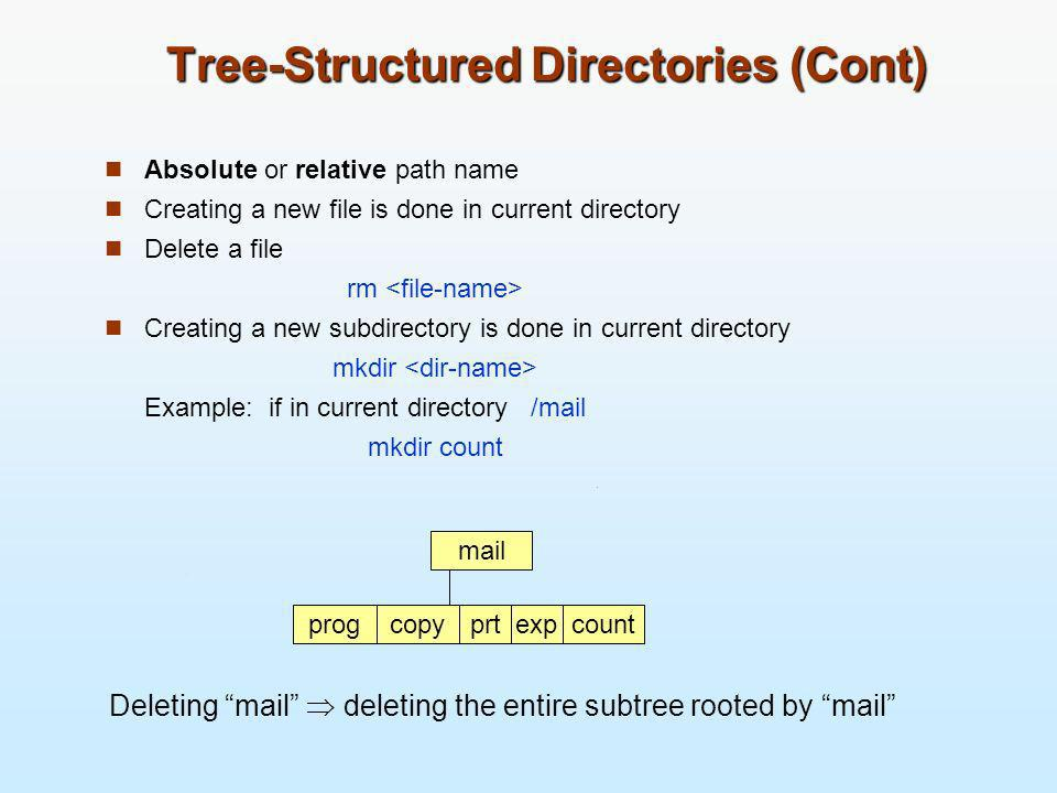 Tree-Structured Directories (Cont)