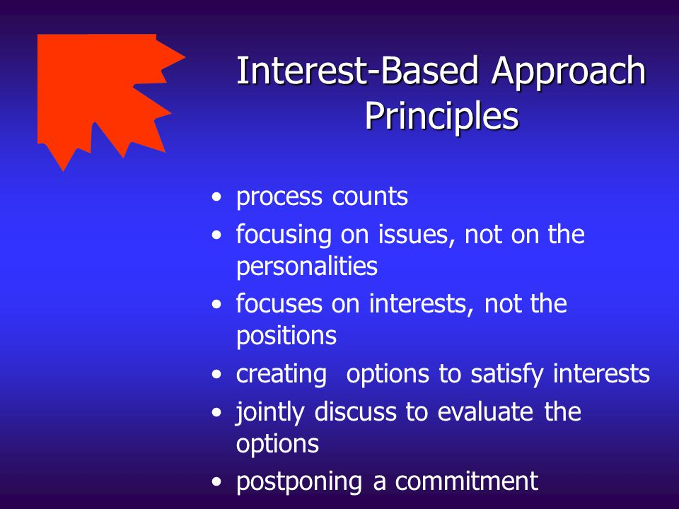Interest-Based Approach Principles