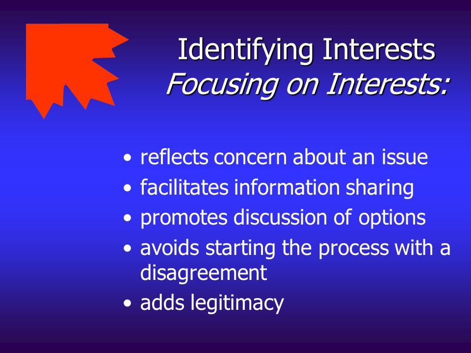 Identifying Interests Focusing on Interests: