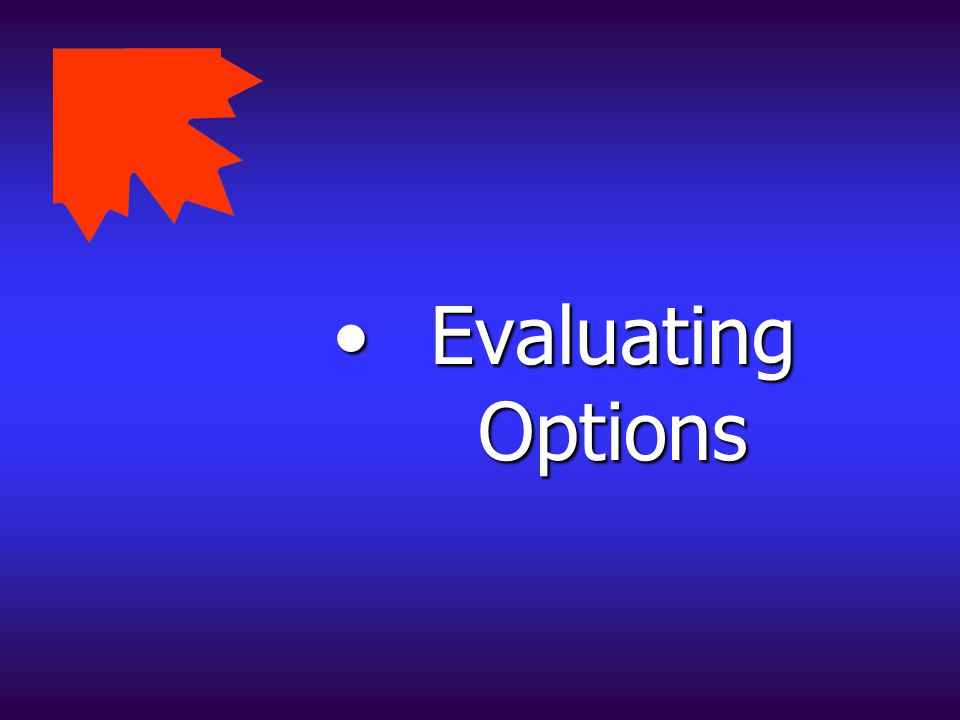 Evaluating Options