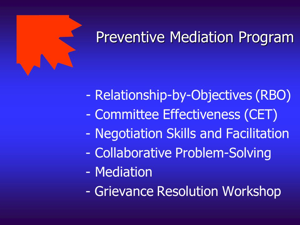 Preventive Mediation Program