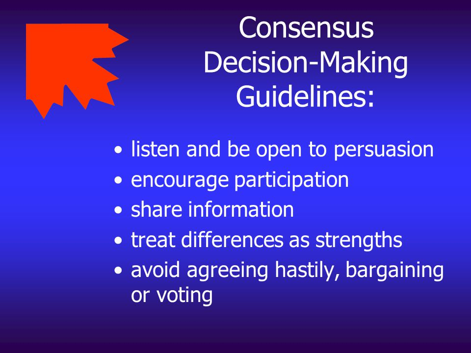 Consensus Decision-Making Guidelines:
