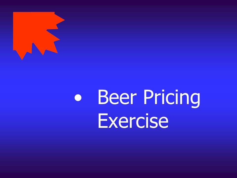 Beer Pricing Exercise
