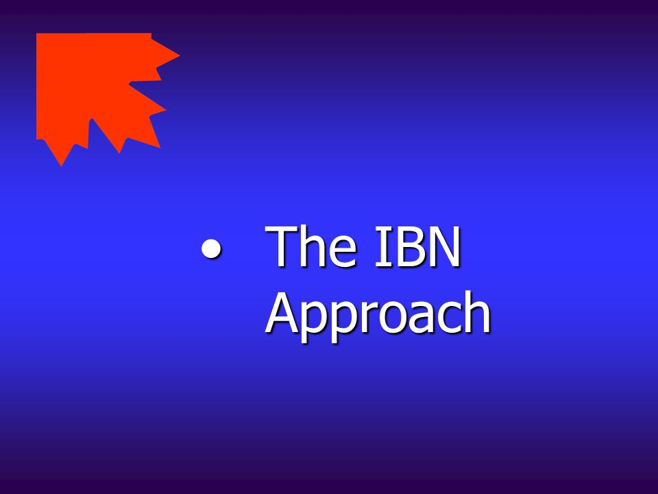 The IBN Approach