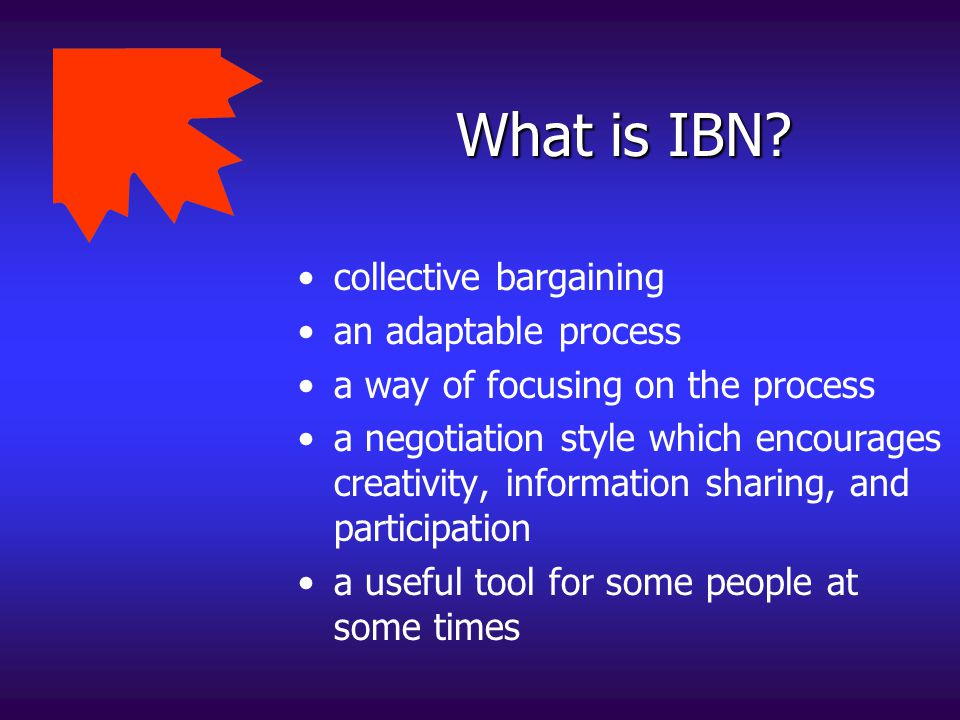 What is IBN collective bargaining an adaptable process