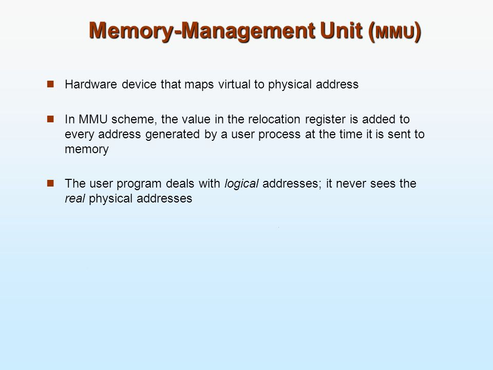 Memory-Management Unit (MMU)