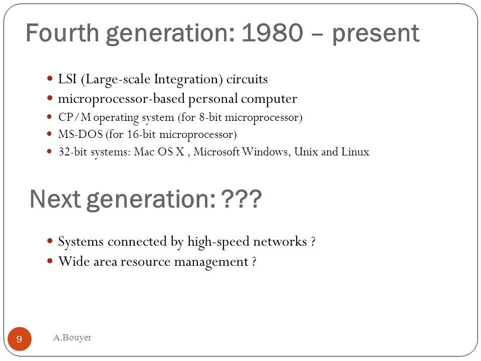Fourth generation: 1980 – present