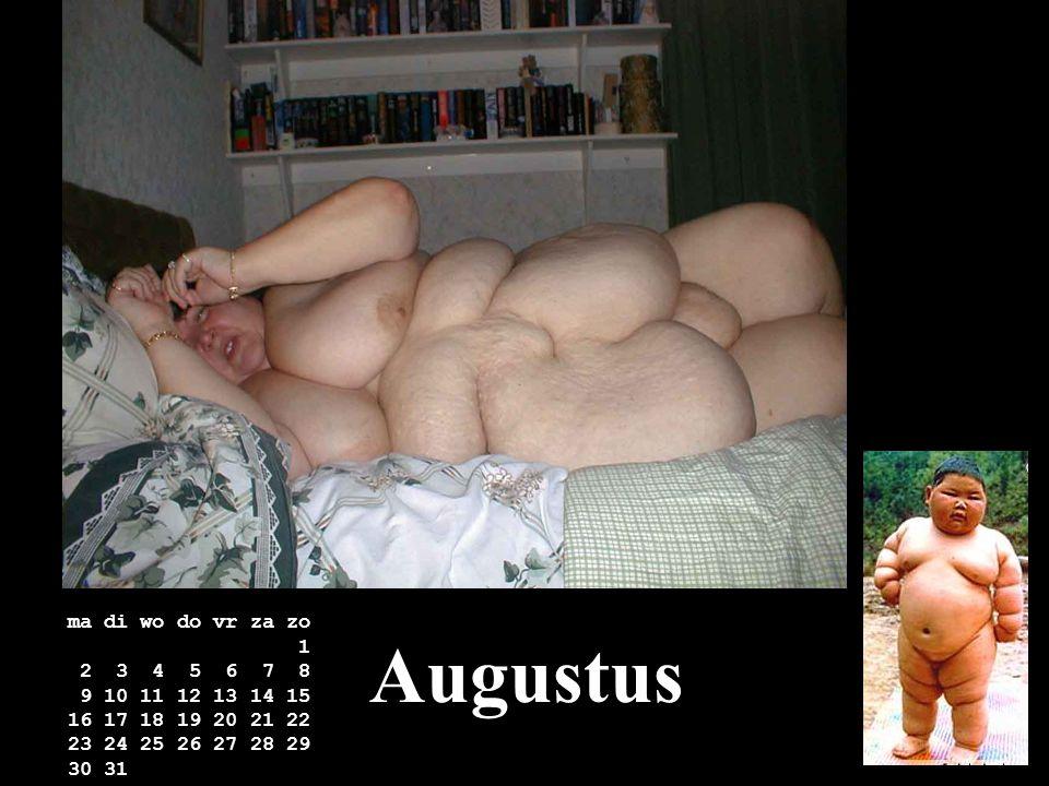 Augustus ma di wo do vr za zo 1 2 3 4 5 6 7 8 9 10 11 12 13 14 15