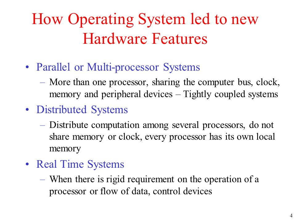 How Operating System led to new Hardware Features