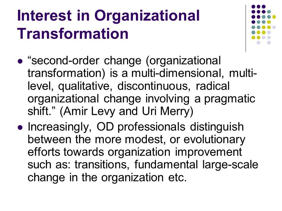 Interest in Organizational Transformation