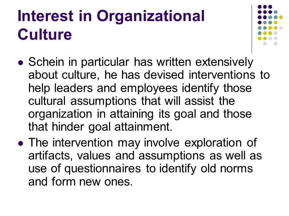 Interest in Organizational Culture